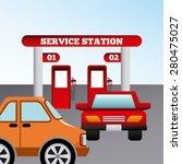 service station design  vector... | Shutterstock .eps vector #280475027