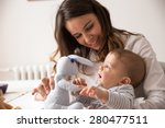 mother and her baby playing... | Shutterstock . vector #280477511