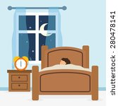 sleep design over blue... | Shutterstock .eps vector #280478141