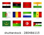 african flags. collection part... | Shutterstock .eps vector #280486115
