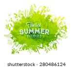 floral summer background with... | Shutterstock .eps vector #280486124