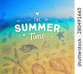 set of summer elements  blurred ... | Shutterstock .eps vector #280491665