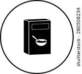 cereal box symbol | Shutterstock .eps vector #280508234