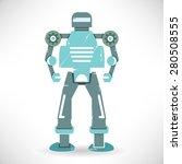 cute retro robot  monster | Shutterstock .eps vector #280508555