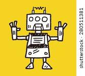 doodle robot | Shutterstock . vector #280511381