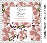 invitation card with floral... | Shutterstock .eps vector #280515485