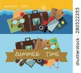 vector summer time  | Shutterstock .eps vector #280522355
