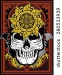 skull flower sword | Shutterstock .eps vector #280523939