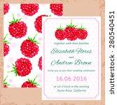 vector wedding invitation....   Shutterstock .eps vector #280540451