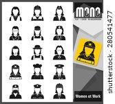 professions  worker women. set... | Shutterstock .eps vector #280541477