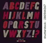 retro stripes funky fonts set ... | Shutterstock .eps vector #280544267