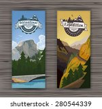 tourism hiking holidays forest... | Shutterstock .eps vector #280544339