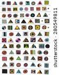 illustration symbols signs... | Shutterstock . vector #280549811