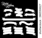 retro white ribbon banners... | Shutterstock .eps vector #280550027