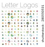 mega set of various letter... | Shutterstock .eps vector #280550531