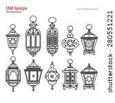 old east lamp ramadan kareem... | Shutterstock .eps vector #280551221