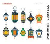 old east lamp vector... | Shutterstock .eps vector #280551227