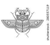 vector scarab beetle. ancient... | Shutterstock .eps vector #280557119