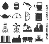 oil icons set | Shutterstock .eps vector #280564325