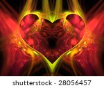 abstract red heart from moving... | Shutterstock . vector #28056457