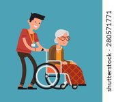 modern vector design on senior... | Shutterstock .eps vector #280571771