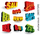 set of colorful discount... | Shutterstock .eps vector #28057390