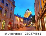 Chateau Frontenac At Dusk In...