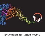 concept music. music background ... | Shutterstock .eps vector #280579247