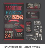 barbecue party bbq template... | Shutterstock .eps vector #280579481