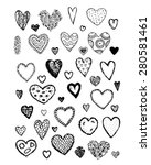 set of valentine hearts for... | Shutterstock .eps vector #280581461