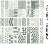 50 geometric seamless pattern...   Shutterstock .eps vector #280584977