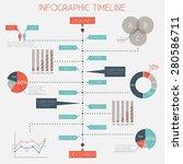 infographic timeline  ... | Shutterstock .eps vector #280586711