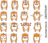 16 smiley hamsters individually ... | Shutterstock .eps vector #28059049