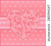 beautiful heart of red flower... | Shutterstock .eps vector #280594247