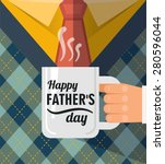 happy father's day   a coffee... | Shutterstock .eps vector #280596044