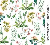 vector floral seamless pattern. ... | Shutterstock .eps vector #280599824