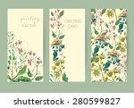 vector floral seamless pattern. ... | Shutterstock .eps vector #280599827