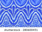 the macro shot of the blue lace ... | Shutterstock . vector #280600451