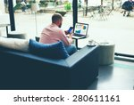 young business busy working on... | Shutterstock . vector #280611161