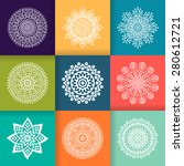 mandala. vintage decorative... | Shutterstock .eps vector #280612721