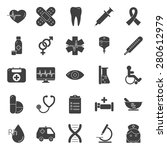 medical silhouette icons set... | Shutterstock .eps vector #280612979