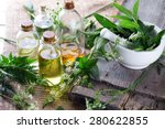 organic essential aroma oil... | Shutterstock . vector #280622855