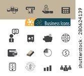 business and finance icons set... | Shutterstock .eps vector #280624139