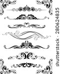 divider ornament set | Shutterstock .eps vector #280624835