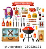 barbecue and grill. set of... | Shutterstock .eps vector #280626131