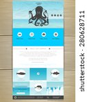 seafood concept web site design....