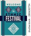 ethnic festival poster.... | Shutterstock .eps vector #280630754