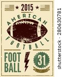 american football typographical ... | Shutterstock .eps vector #280630781