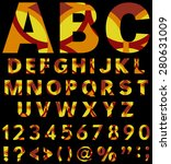 beautiful alphabet from a to z... | Shutterstock .eps vector #280631009