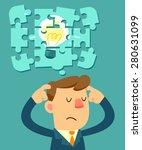 illustration os businessman try ... | Shutterstock .eps vector #280631099